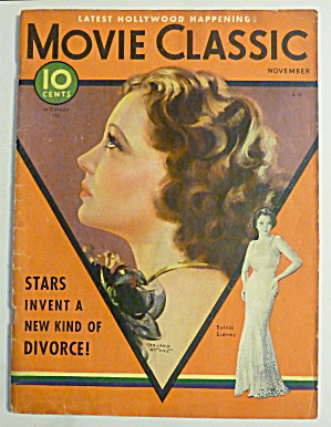 Movie Classic Magazine November 1932 Sylvia Sidney