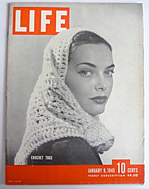 Life Magazine January 8, 1945 Crochet Togs  (Image1)