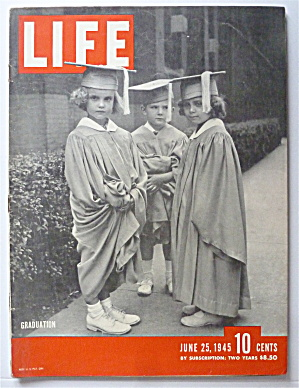 Life Magazine June 25, 1945 Graduation  (Image1)