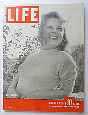 Life Magazine-october 1, 1945-june Allyson