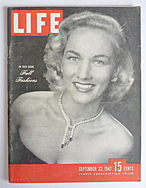 Life Magazine September 22, 1947 Fall Fashions