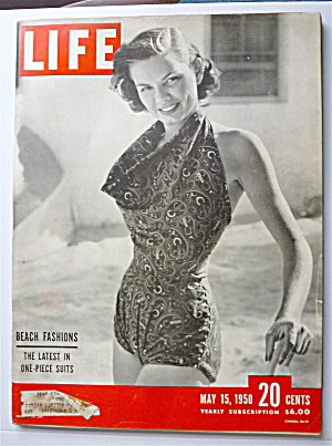 Life Magazine-May 15, 1950-Beach Fashions (Image1)