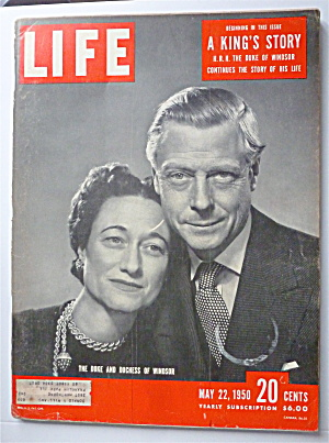 Life Magazine May 22, 1950 Duke & Duchess Of Windsor