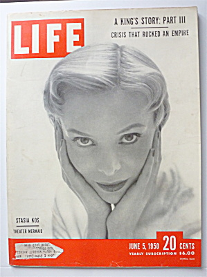 Life Magazine-june 5, 1950-stasia Kos (Theater Mermaid)