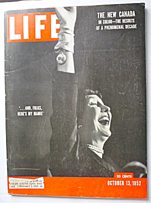 Life Magazine-october 13, 1952-here's My Mamie