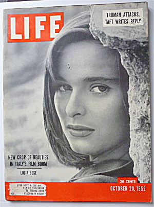 Life Magazine October 20, 1952 Lucia Bose