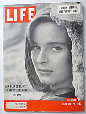 Life Magazine-october 20, 1952-lucia Bose