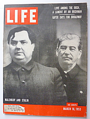 Life Magazine March 16, 1953 Malenkov & Stalin