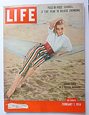 Life Magazine-february 1, 1954-canvas Pants