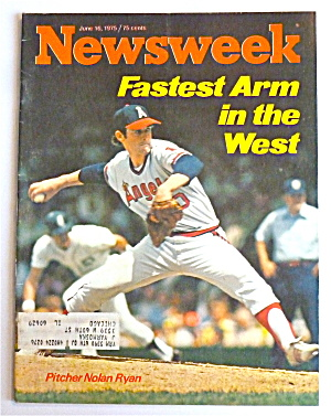 Newsweek Magazine June 16, 1975 Nolan Ryan  (Image1)