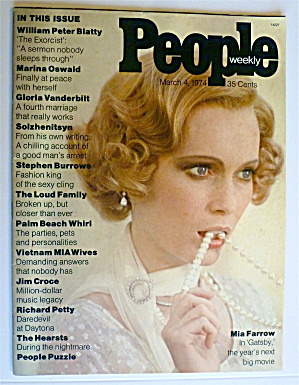 People Weekly Magazine March 4, 1974 Mia Farrow