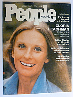 People Weekly Magazine December 9, 1974 Cloris Leachman