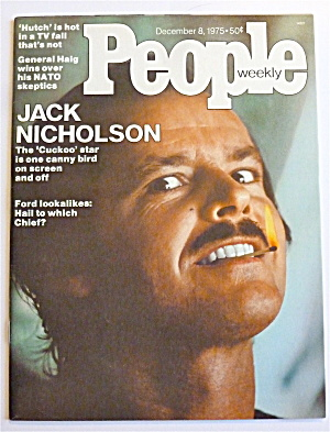 People Weekly Magazine December 8, 1975 Jack Nicholson