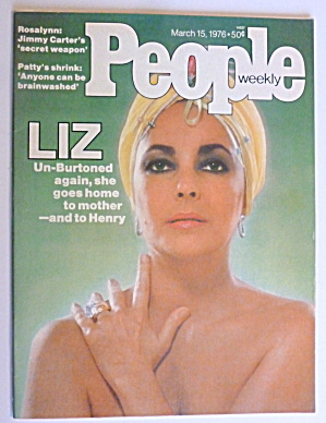 People Weekly Magazine March 15, 1976 Elizabeth Taylor
