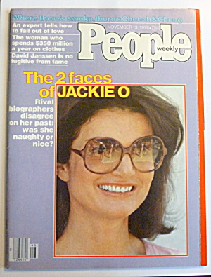 People Magazine November 13, 1978 2 Faces Of Jackie O