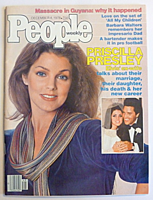 People Magazine December 4, 1978 Priscilla Presley