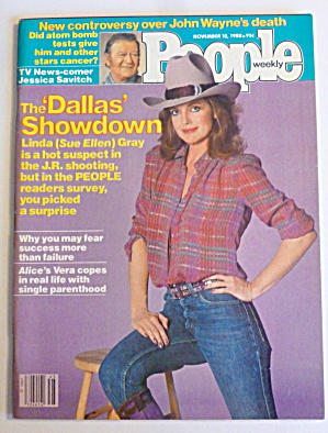 People Magazine November 10, 1980 Linda Gray-sue Ellen