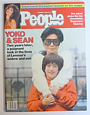 People Magazine December 13, 1982 Yoko Ono & Sean