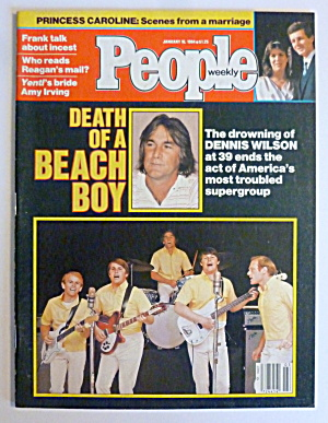 People Magazine January 16, 1984 Death Of A Beach Boy