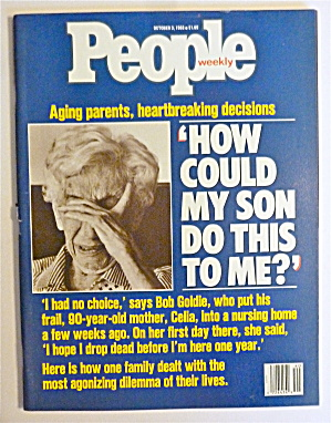 People Magazine October 3, 1988 Aging Parents  (Image1)