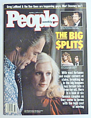 People Magazine August 7. 1989 Clint Eastwood