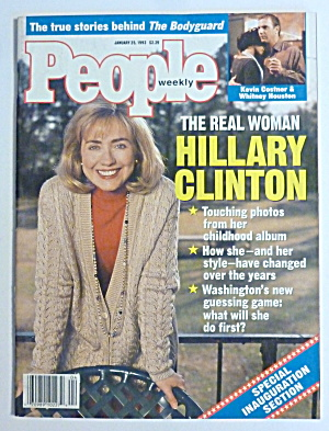 People Magazine January 25, 1993 Hillary Clinton
