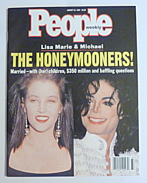 People Magazine August 15, 1994 Lisa Marie & Michael