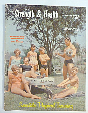 Strength & Health Magazine February 1958 Grimek Family