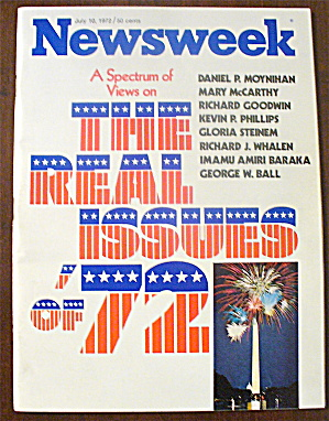 Newsweek Magazine-July 10, 1972-Real Issues of '72 (Image1)