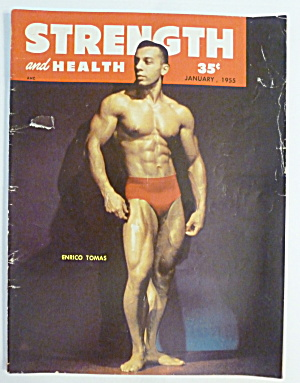 Strength & Health Magazine January 1955 Enrico Thomas