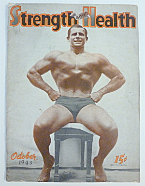 Strength & Health Magazine October 1943 Steve Sanko