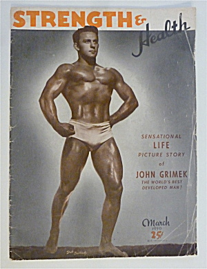 Strength & Health Magazine March 1950 Dick Buckholz