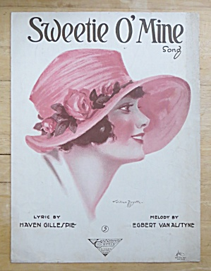 1920 Sweetie O' Mine Song Sheet Music