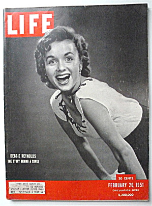 Life Magazine-february 26, 1951-debbie Reynolds