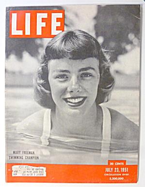 Life Magazine-July 23, 1951-Mary Freeman (Swim Champ) (Image1)