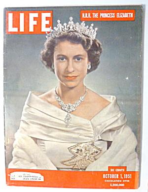 Life Magazine-October 1, 1951-Princess Elizabeth (Image1)