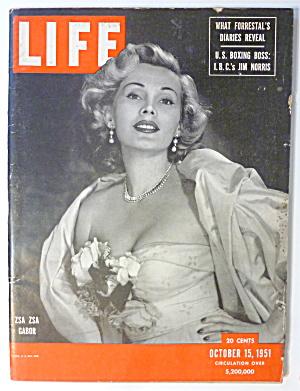 Life Magazine-October 15, 1951-Zsa Zsa Gabor (Image1)