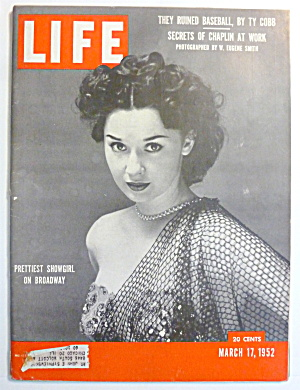 Life Magazine-March 17, 1952-Prettiest Showgirl (Image1)