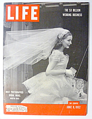 Life Magazine-june 9, 1952-martha Boss (Bridal Model)