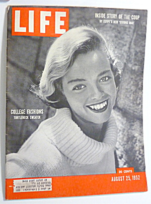 Life Magazine-august 25, 1952-college Fashions