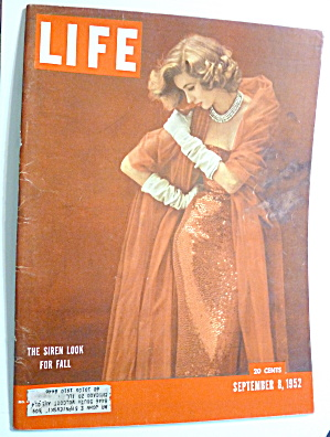 Life Magazine-september 8, 1952-siren Look For Fall