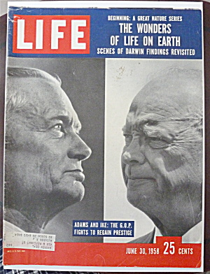 Life Magazine-june 30, 1958-adams & Ike