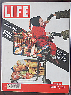Life Magazine-january 3, 1955-food
