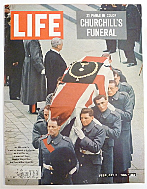 Life Magazine-february 5, 1965-churchill's Funeral