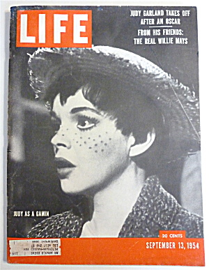 Life Magazine-september 13, 1954-judy Garland As Gamin