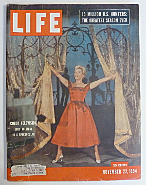 Life Magazine-november 22, 1954-judy Holliday