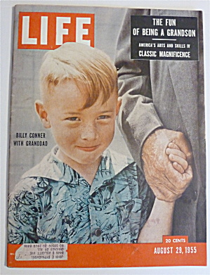 Life Magazine-august 29, 1955-billy Conner