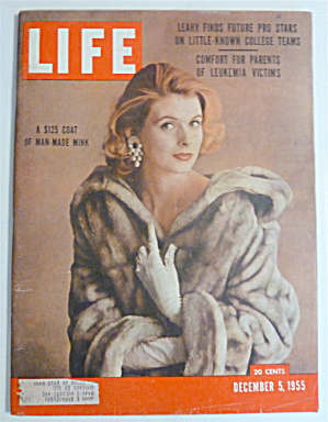 Life Magazine-december 5, 1955-$125 Coat Of Mink
