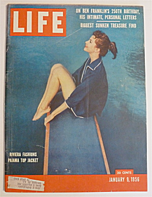 Life Magazine-January 9, 1956-Riviera Fashions  (Image1)