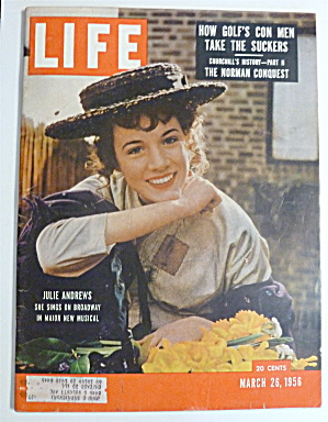 Life Magazine-march 26, 1956-julie Andrews